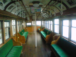 電車とバスの博物館に行ったよ